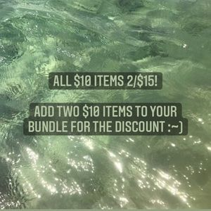 $10 items are 2/$15!